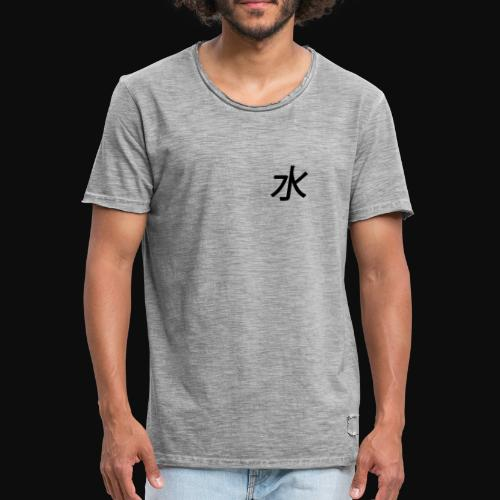 water #element - Herre vintage T-shirt