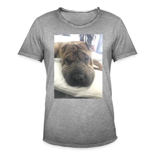 Closeup Shar-pei - Men's Vintage T-Shirt