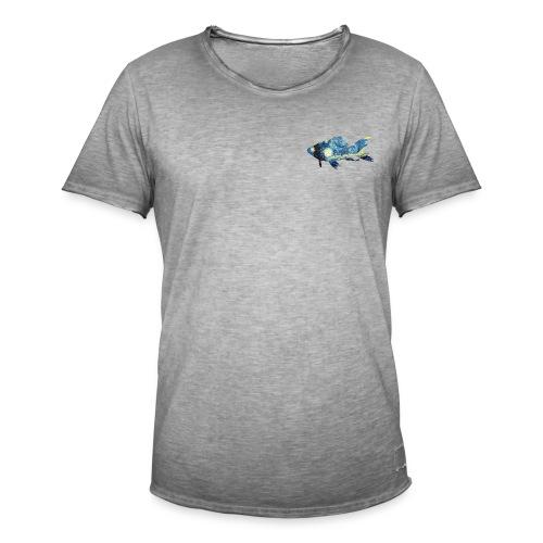 Pez estampado cuadro La noche estrellada - Camiseta vintage hombre