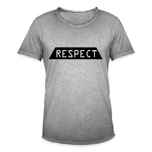 Respect - Vintage-T-skjorte for menn