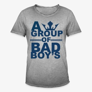 Bad boys blauw2 1 - Mannen Vintage T-shirt