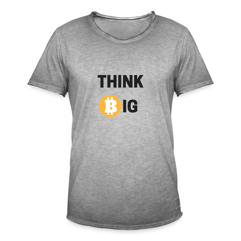 Think Big - Männer Vintage T-Shirt