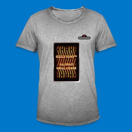 GRILL FIEBER - Männer Vintage T-Shirt