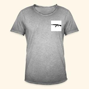 AK 47 Tee - Only White - Maglietta vintage da uomo