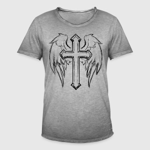 JESUS ​​CHRIST - ANGEL T-SHIRT - Men's Vintage T-Shirt
