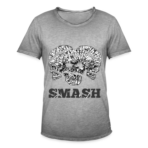 SKULL SMASHED - Men's Vintage T-Shirt