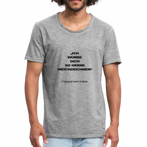 fotograf beim aufriss - Männer Vintage T-Shirt