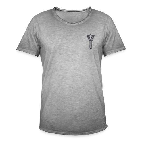 Algiz Rune - Connection with Asgard / Protection - Men's Vintage T-Shirt