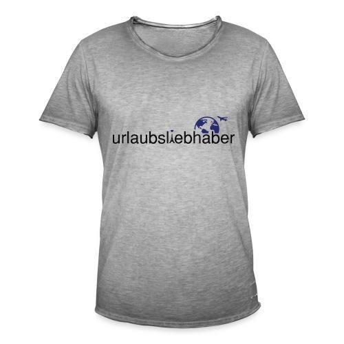 urlaubsliebhaber blau-schwarz dünne Schrift - Männer Vintage T-Shirt