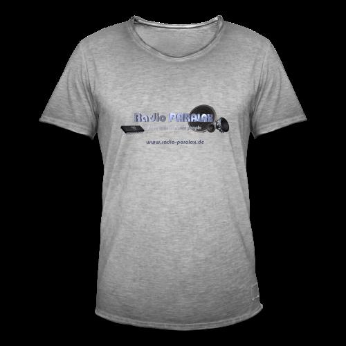 Radio PARALAX Facebook-Logo mit Webadresse - Männer Vintage T-Shirt