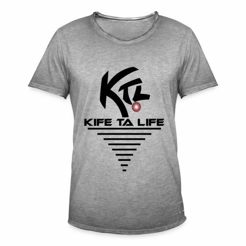 KTL Noir VORTEX - T-shirt vintage Homme