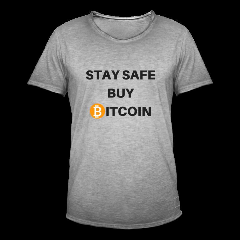 stay safe buy bitcoin - Männer Vintage T-Shirt