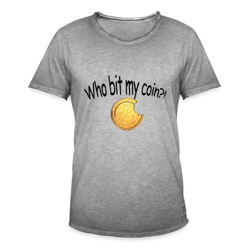 Bitcoin bite - Mannen Vintage T-shirt