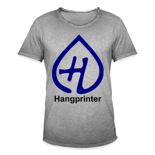 Hangprinter logo and text - Vintage-T-shirt herr