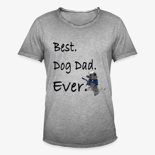 Father's Day Dog Dad T Shirt Perfect Gift Tee - Men's Vintage T-Shirt