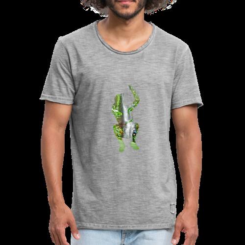 Jump into Adventure - Männer Vintage T-Shirt