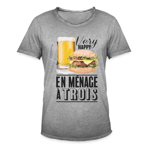 Ménage à trois - T-shirt vintage Homme