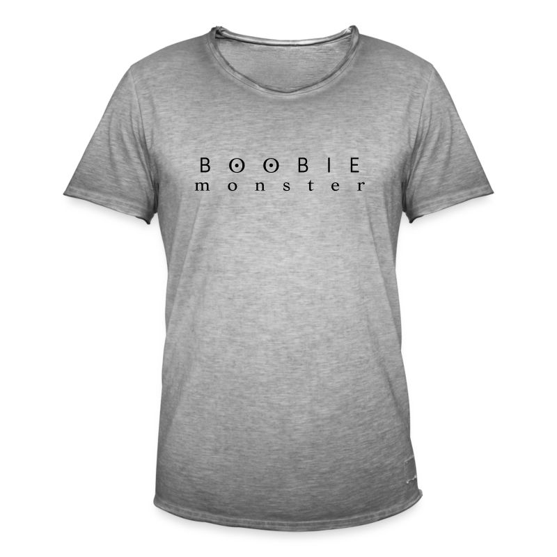 boobiemonster Collection - Vintage-T-skjorte for menn