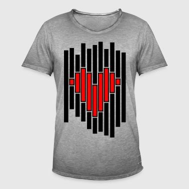 Heart pixel - Men's Vintage T-Shirt