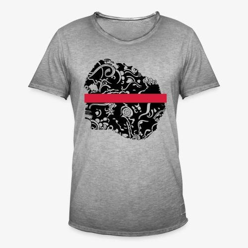 Schwarz und Weiß - Männer Vintage T-Shirt