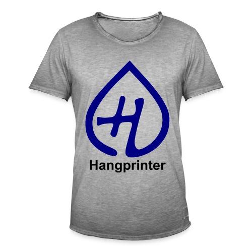Hangprinter logo and text - Vintage-T-shirt herr