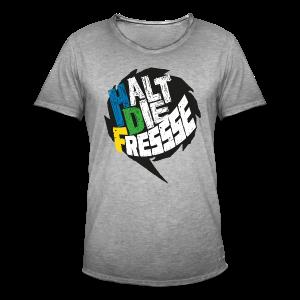 AGGRO.TV - Halt die Fresse T-Shirt - Männer Vintage T-Shirt