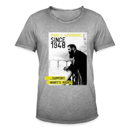Israel since 1948 | Theodor Herzl - Männer Vintage T-Shirt