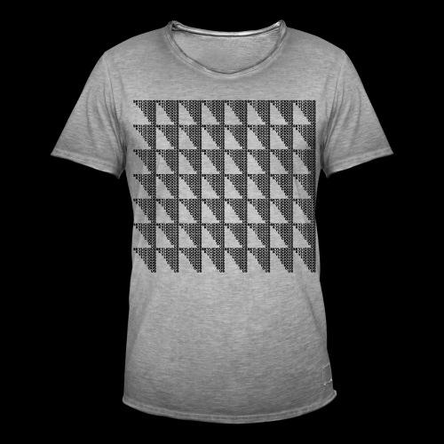 Checkered Pattern - Koszulka męska vintage
