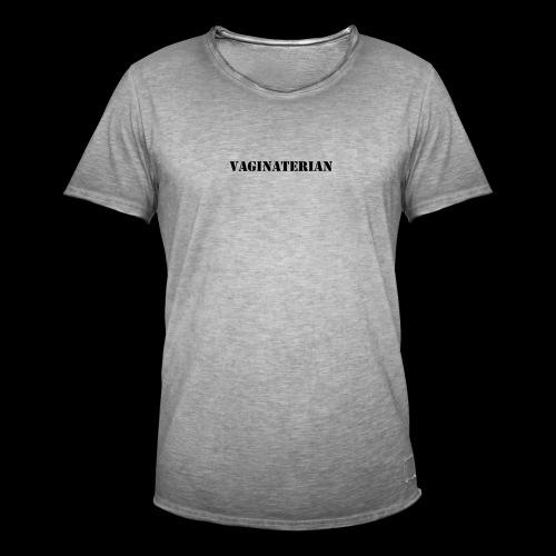 Vaginaterian - Mannen Vintage T-shirt