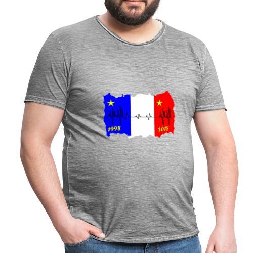 France 2018 coupe du monde les bleus - T-shirt vintage Homme