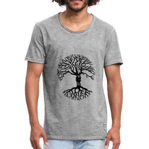 couple arbre de vie zen amour Tree of life noir - T-shirt vintage Homme
