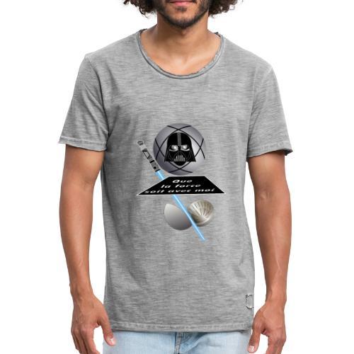 petanque star war force avec moi boule dark vador - T-shirt vintage Homme