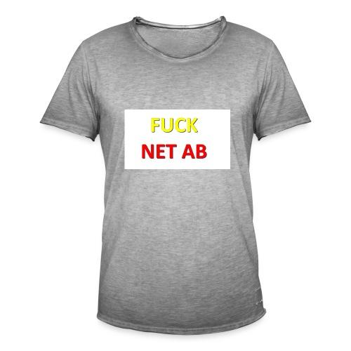FUCK NET AB - Männer Vintage T-Shirt