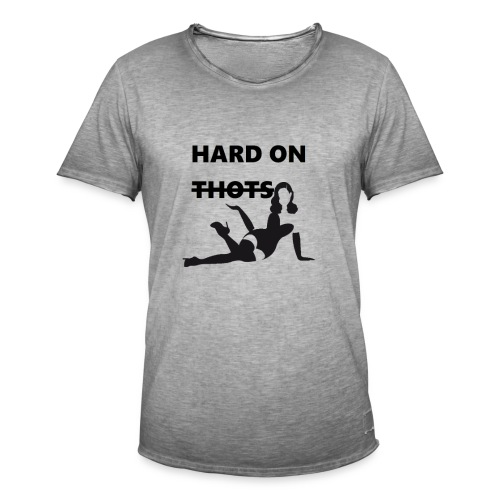 Hard on thots (censored) - Mannen Vintage T-shirt