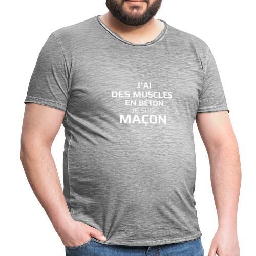 Je suis maçon - T-shirt vintage Homme
