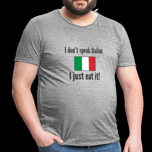 Dont speak Italian - Mannen Vintage T-shirt