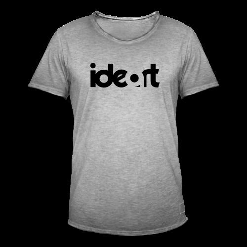 ideart logo sort - Herre vintage T-shirt