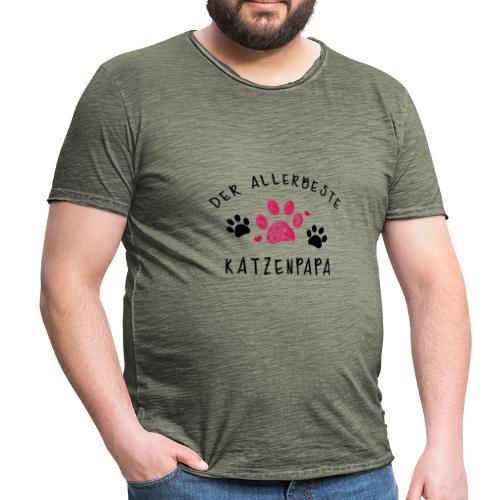 Der allerbeste Katzenpapa - Männer Vintage T-Shirt