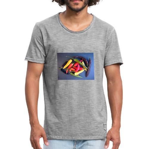 Chili bunt - Männer Vintage T-Shirt