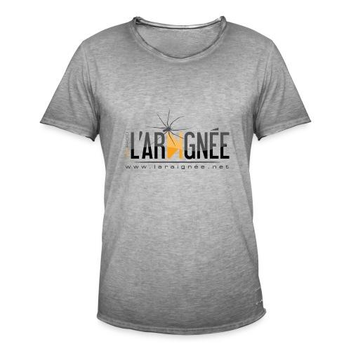 L'ARAIGNÉE, logo noir - T-shirt vintage Homme