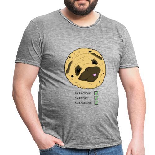 Pug Cookie - Mannen Vintage T-shirt