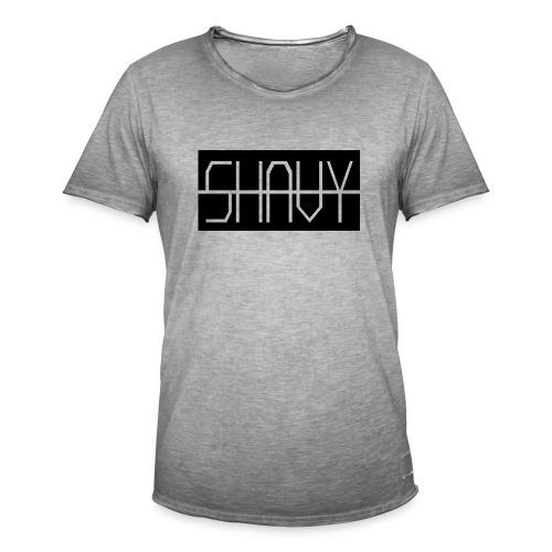 Shavy Rechteck Design black - Männer Vintage T-Shirt
