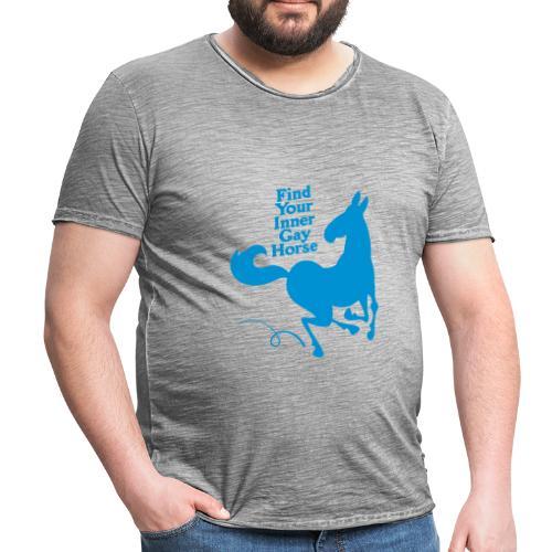 Find your inner gay horse - Vintage-T-shirt herr