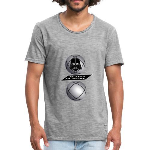 petanque je suis ta paire star war force avec toi - T-shirt vintage Homme