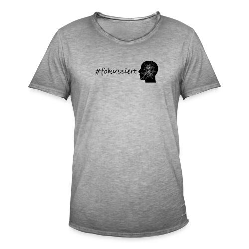 Fokussiert Fitness Shirt - Männer Vintage T-Shirt