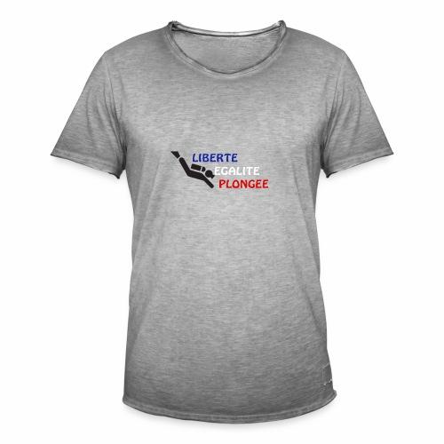devise plongée - T-shirt vintage Homme