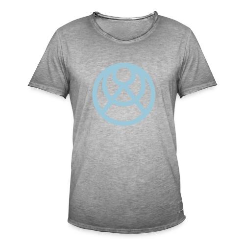 Faråkra symbol blå - Vintage-T-shirt herr