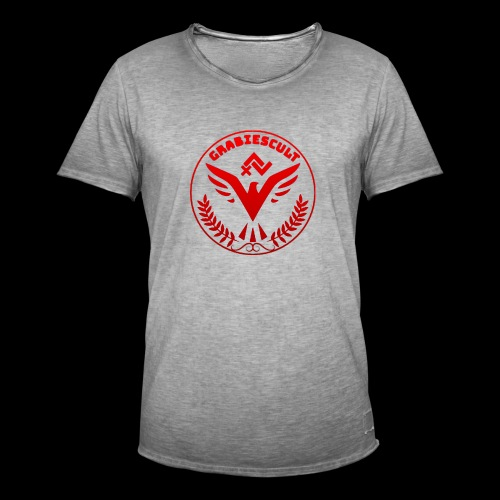 GrabiesCult red edition - Herre vintage T-shirt