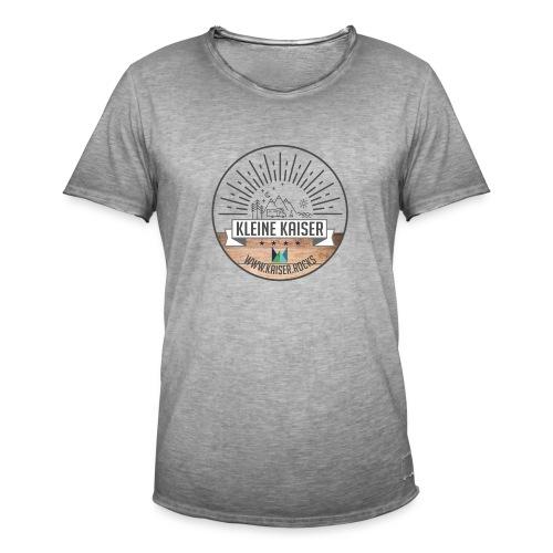 Sticker KleineKaiser grau outlines Zeichenfla che - Männer Vintage T-Shirt