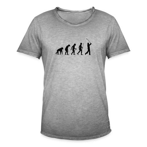 Evolution of Man Golf - Herre vintage T-shirt